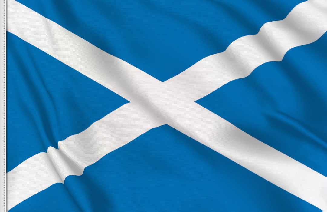 Flag sticker of Scotland