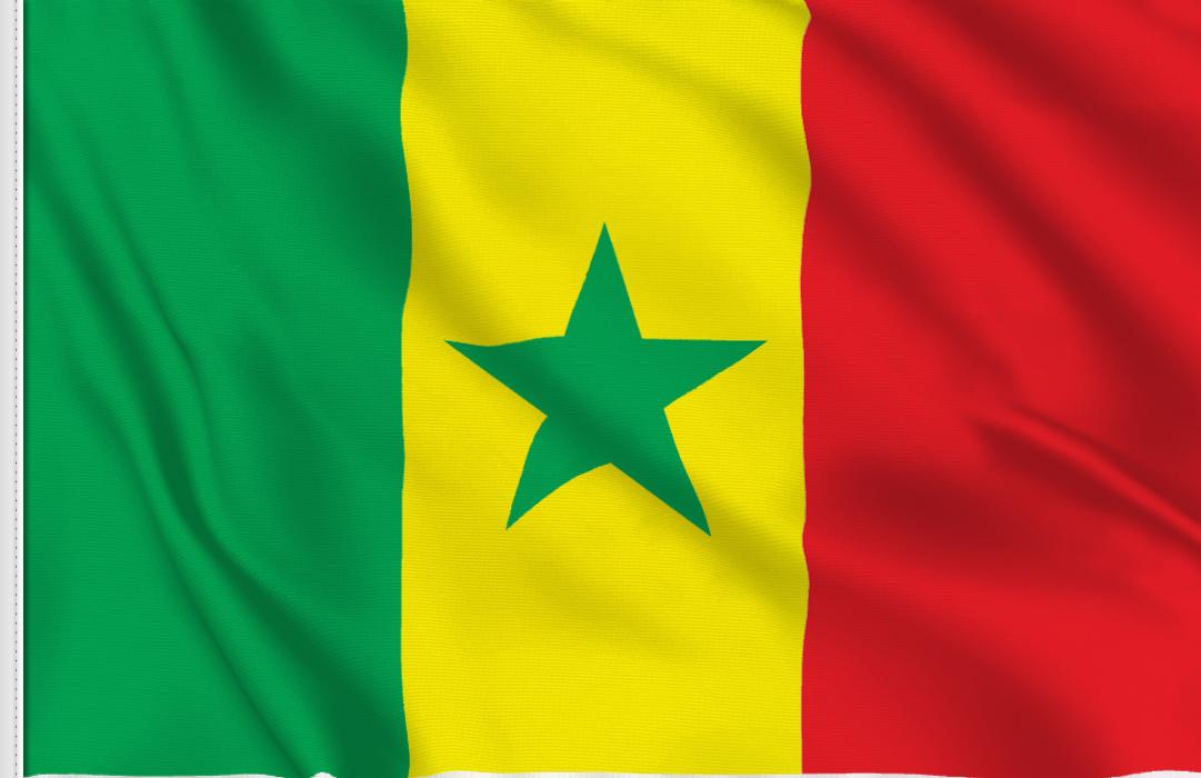 bandera adhesiva de Senegal