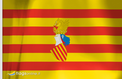Flag sticker of Senyera Valenciana Preautonomica