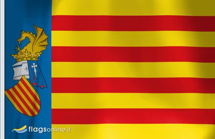 bandera pegatina de Senyera Valenciana