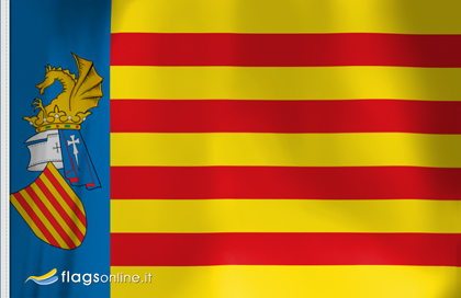 Flag sticker of Senyera Valenciana