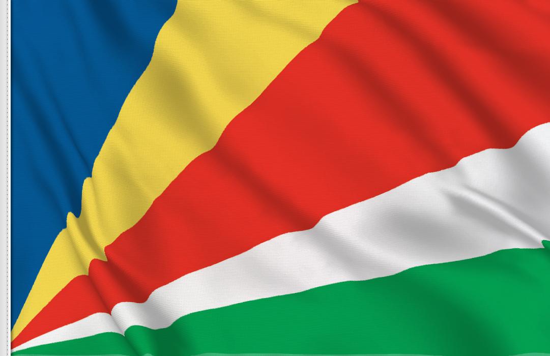 bandera adhesiva de Seychelles