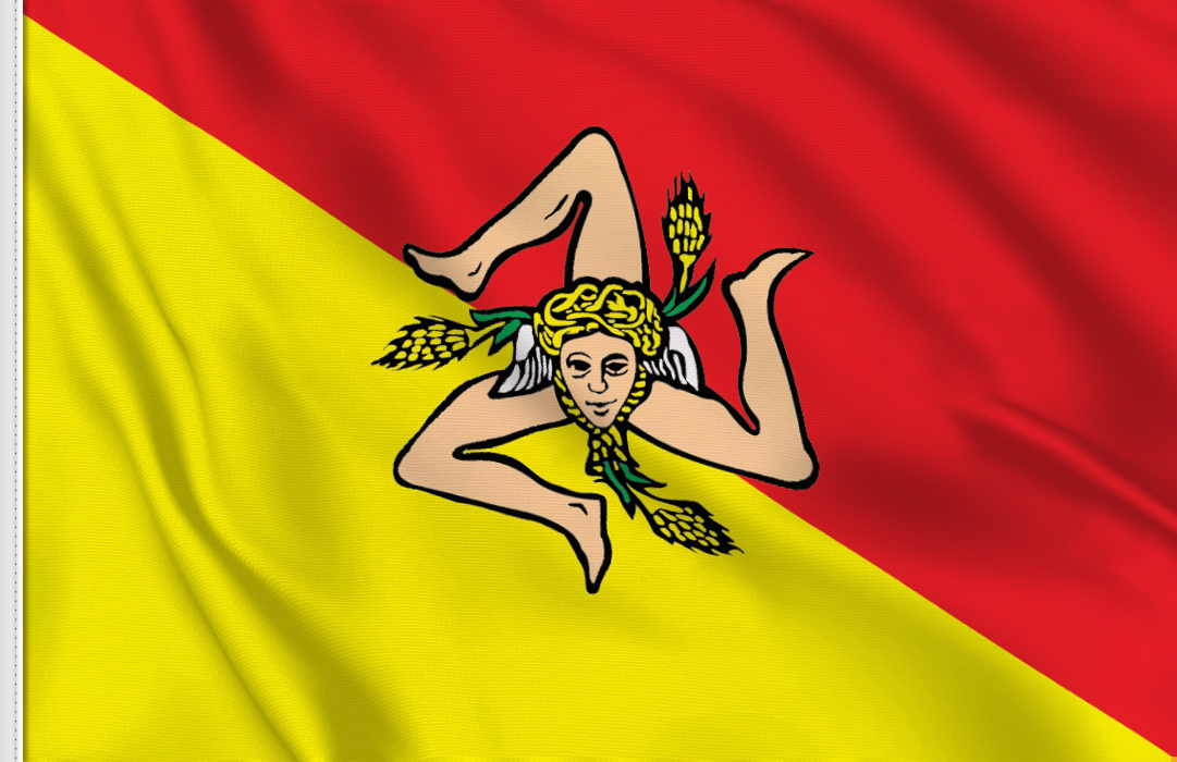 flag sticker of Sicily