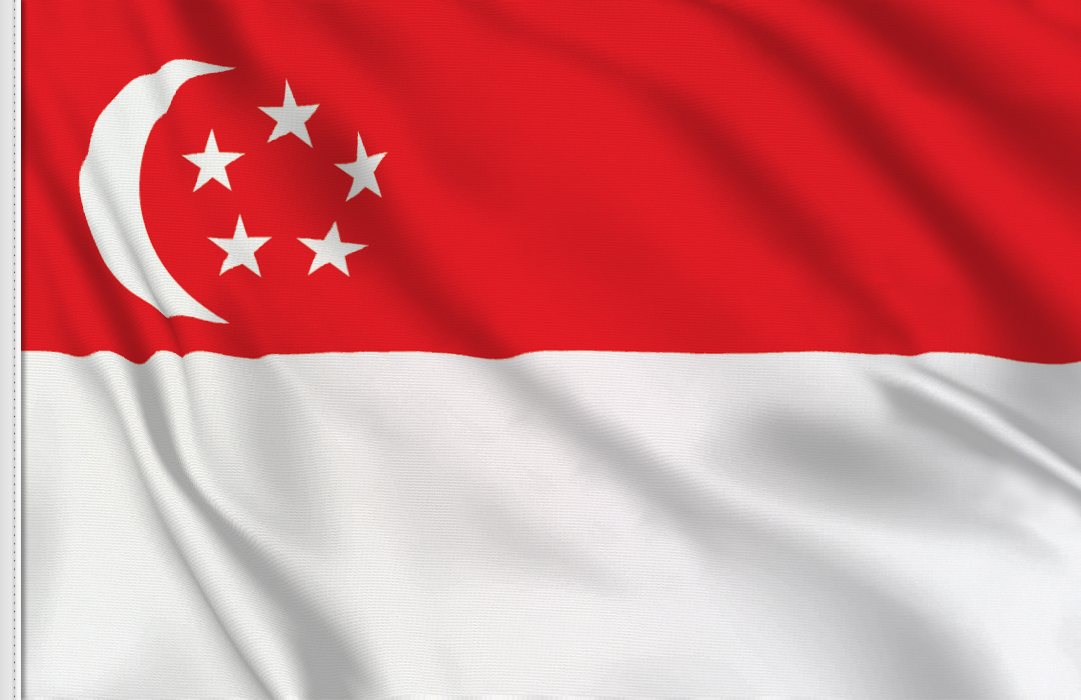 flag sticker of Singapore