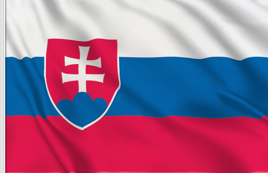 flag sticker of Slovakia