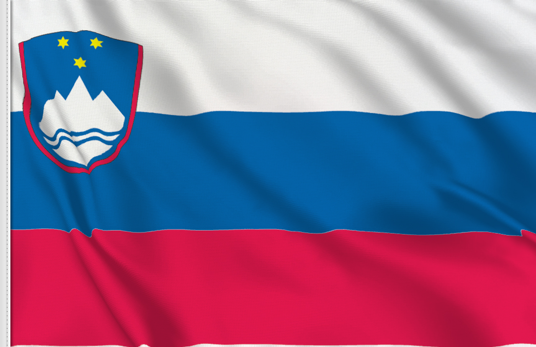 flag sticker of Slovenia