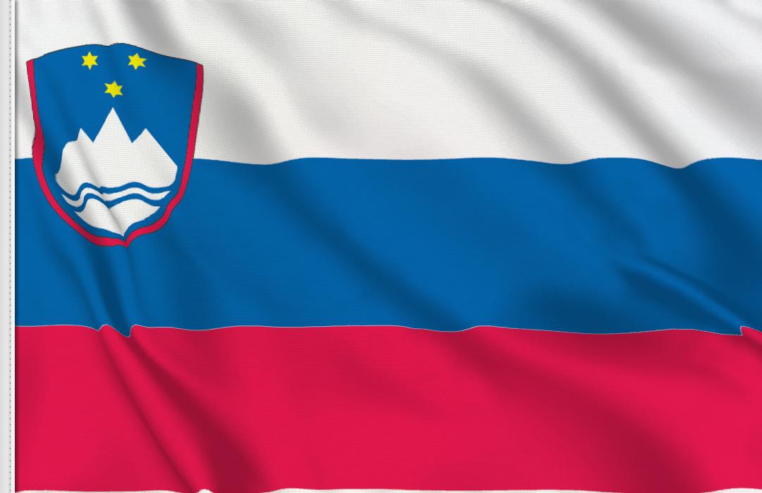 Flag sticker of Slovenia