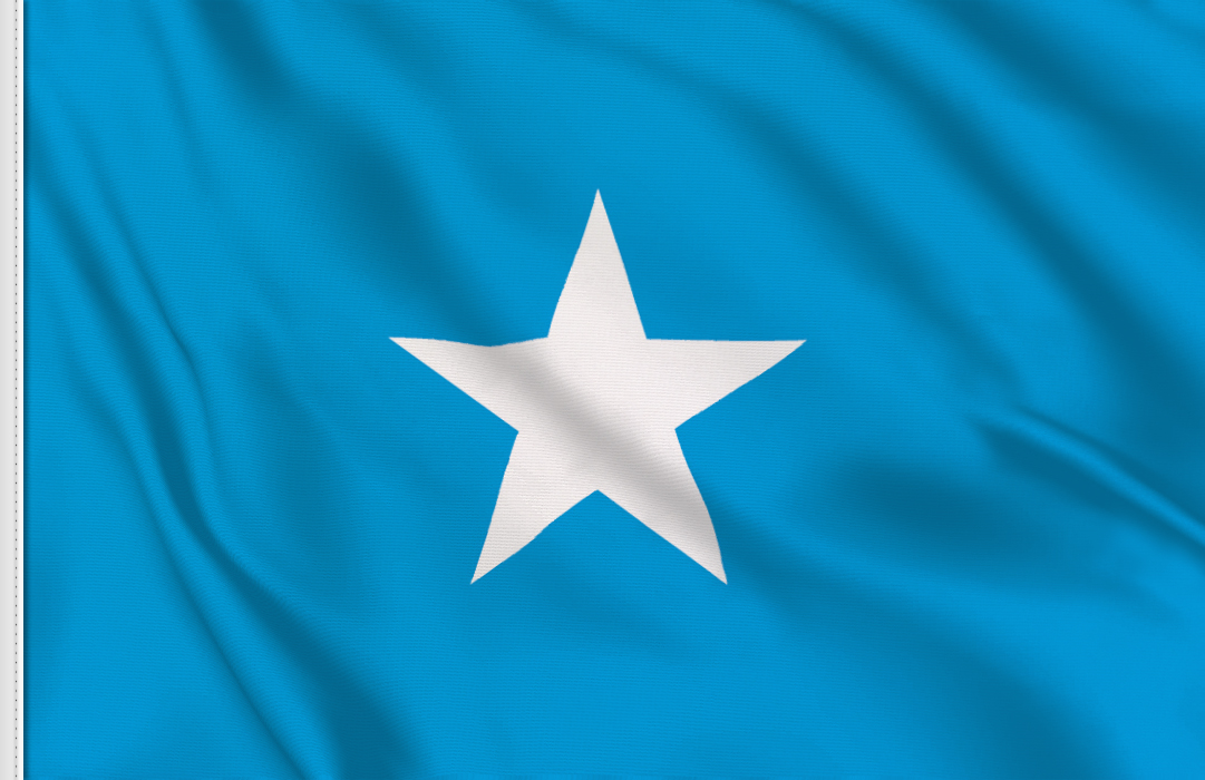 flag sticker of Somalia
