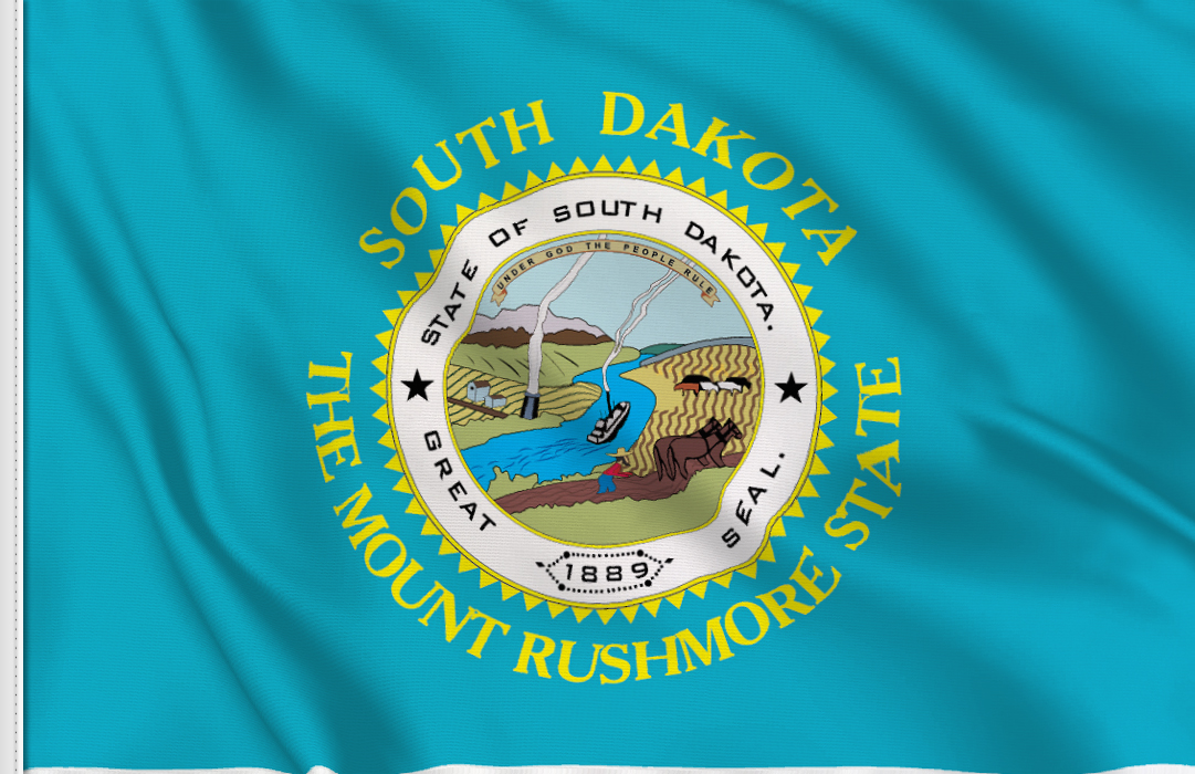 Flag sticker of South-Dakota