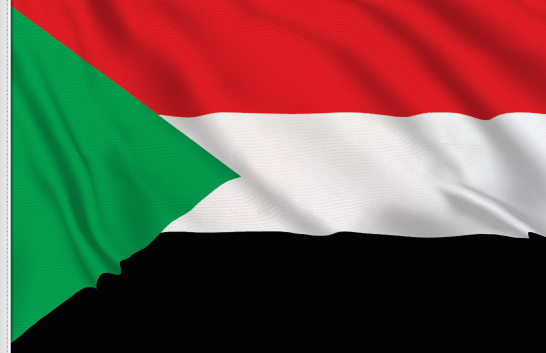 flag sticker of Sudan