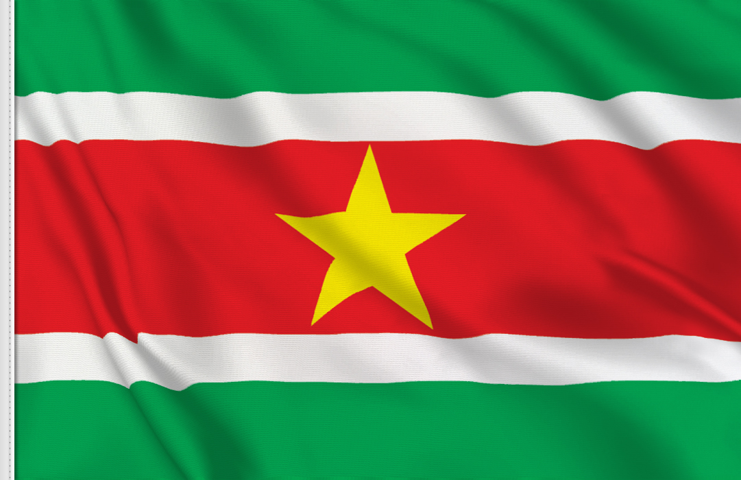 Flag sticker of Suriname
