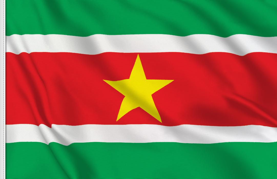 Suriname aufkleber fahne