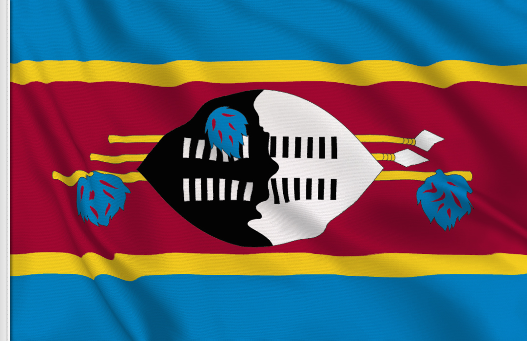 bandera adhesiva de Swazilandia