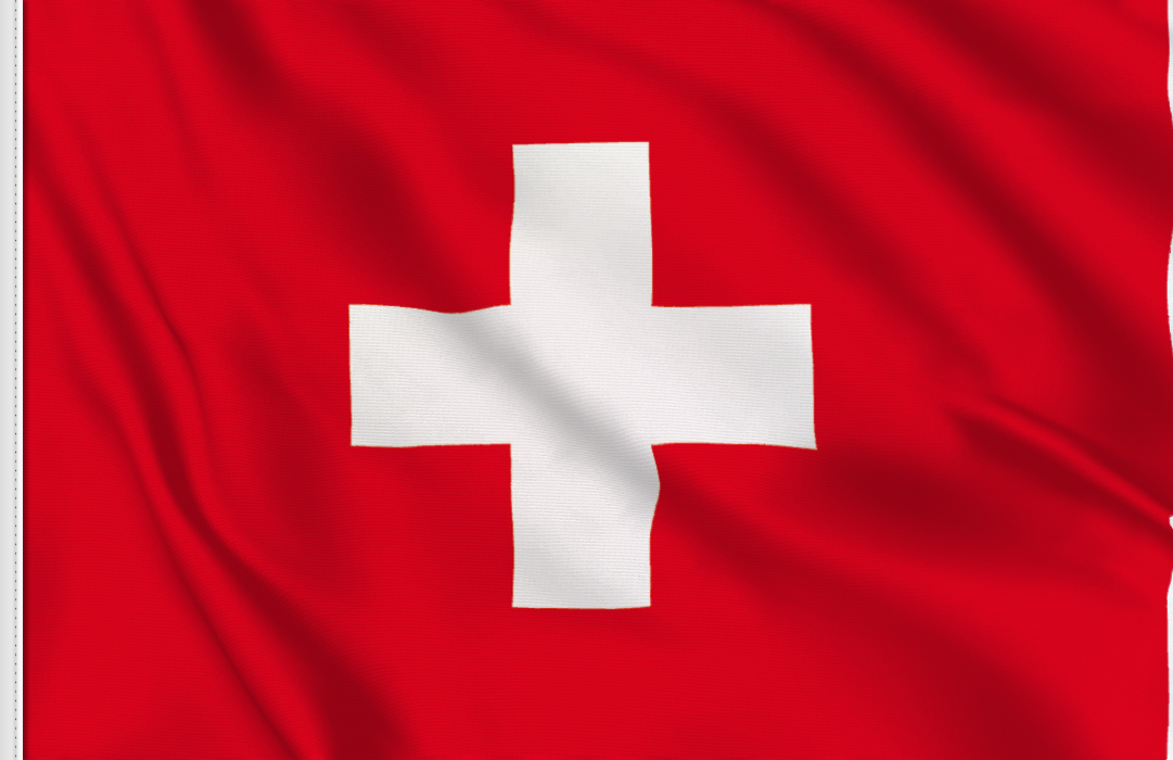 flag sticker of Switzerland