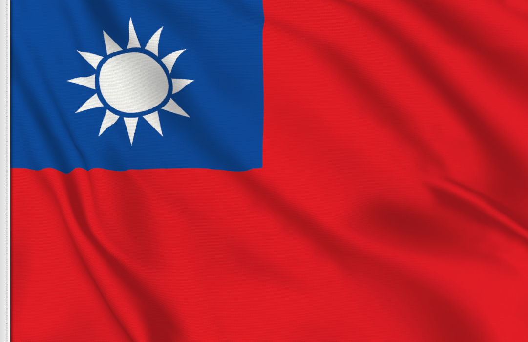 Flag sticker of Taiwan
