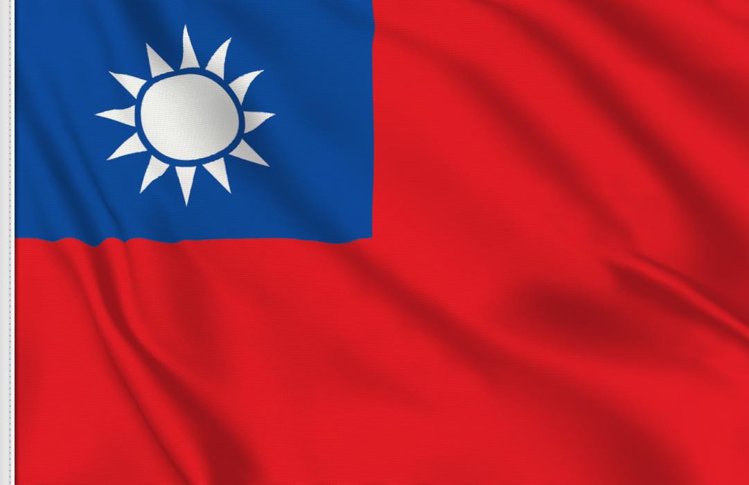 Taiwan aufkleber fahne