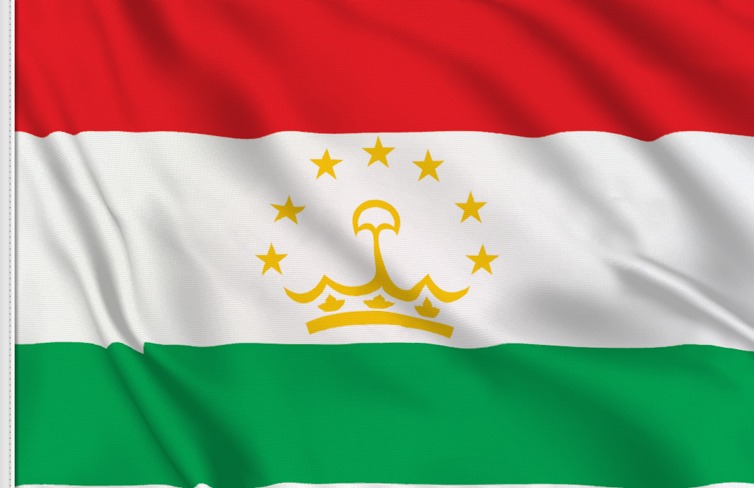 flag sticker of Tajikistan