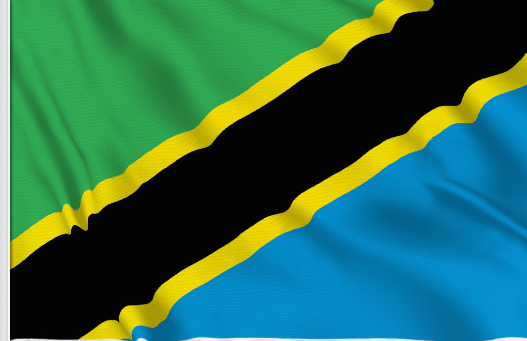 flag sticker of Tanzania