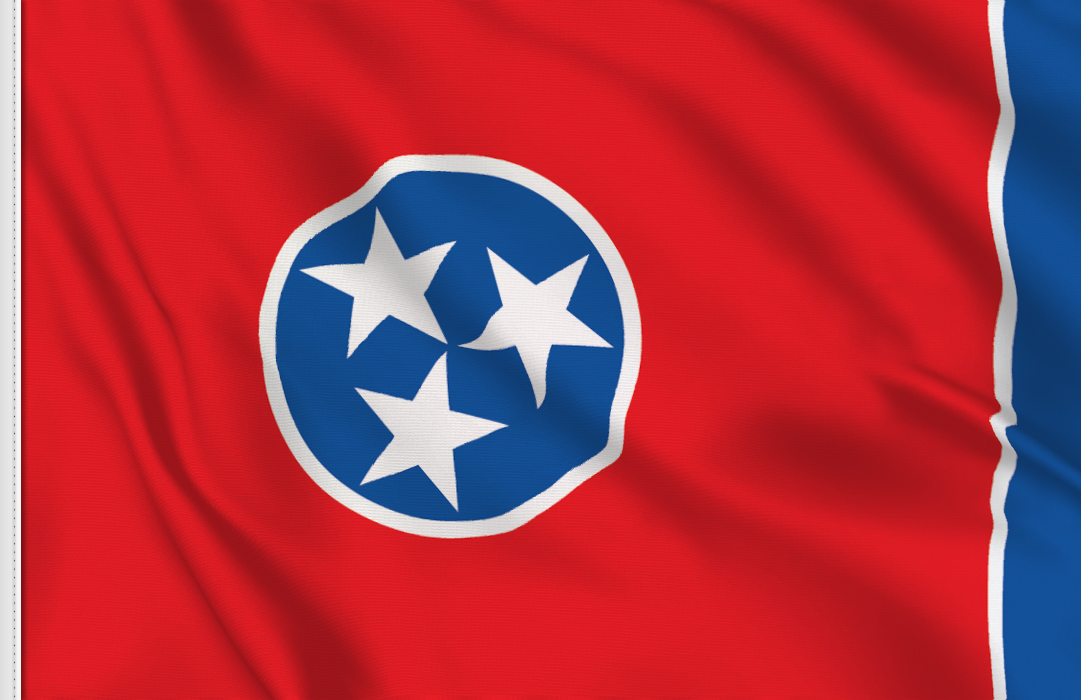 flag sticker of Tennessee