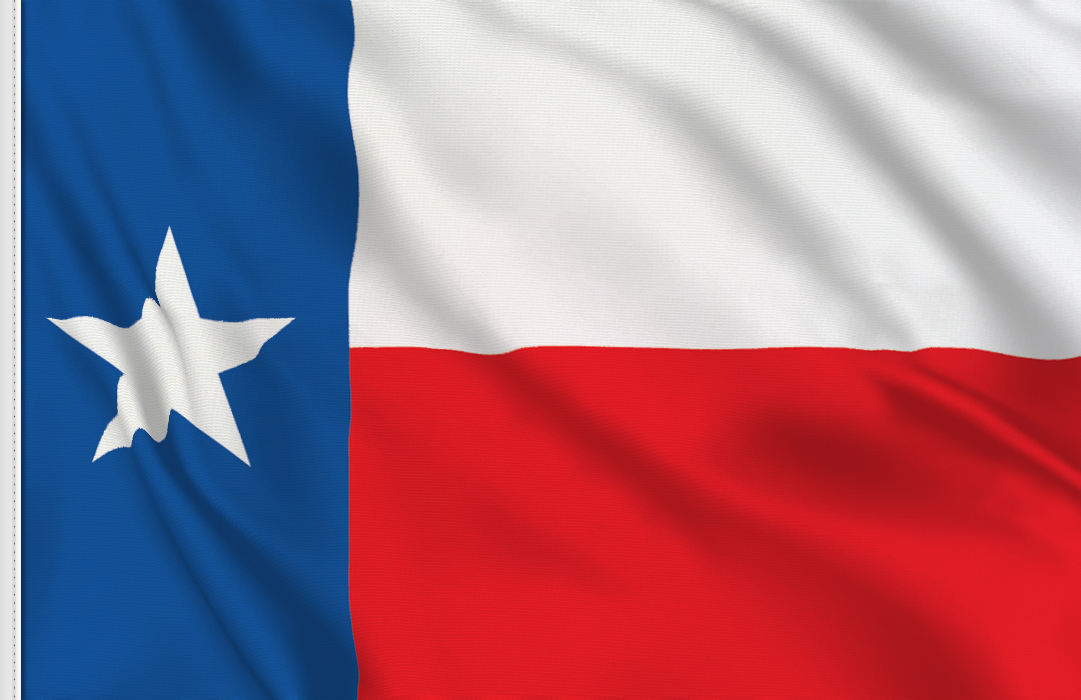 Flag sticker of Texas