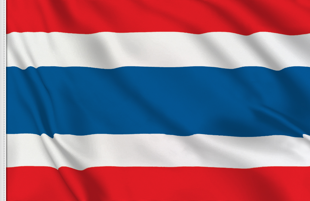 Flag sticker of Thailand