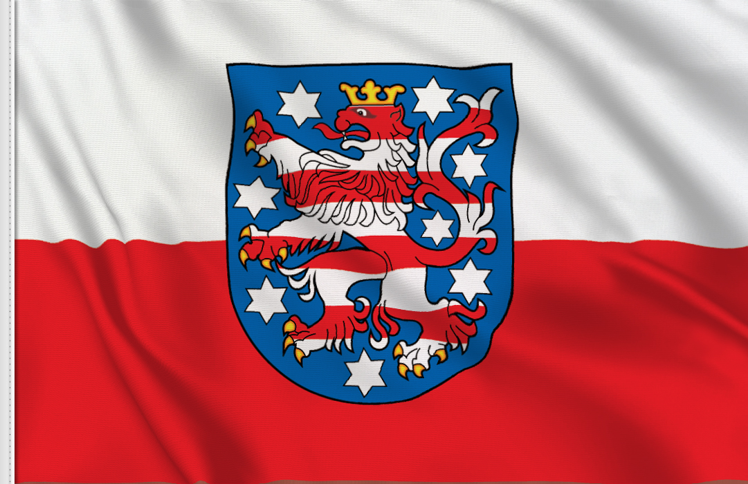 flag sticker of Thuringia