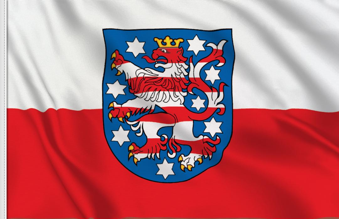 Flag sticker of Thuringia