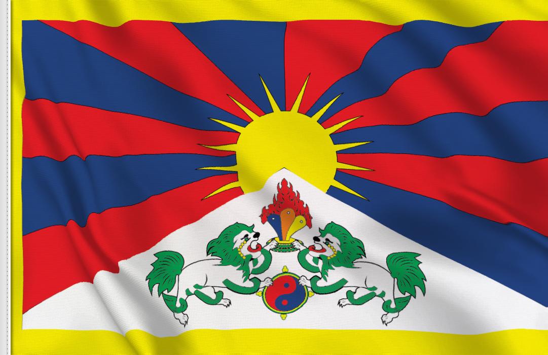 Tibet aufkleber fahne