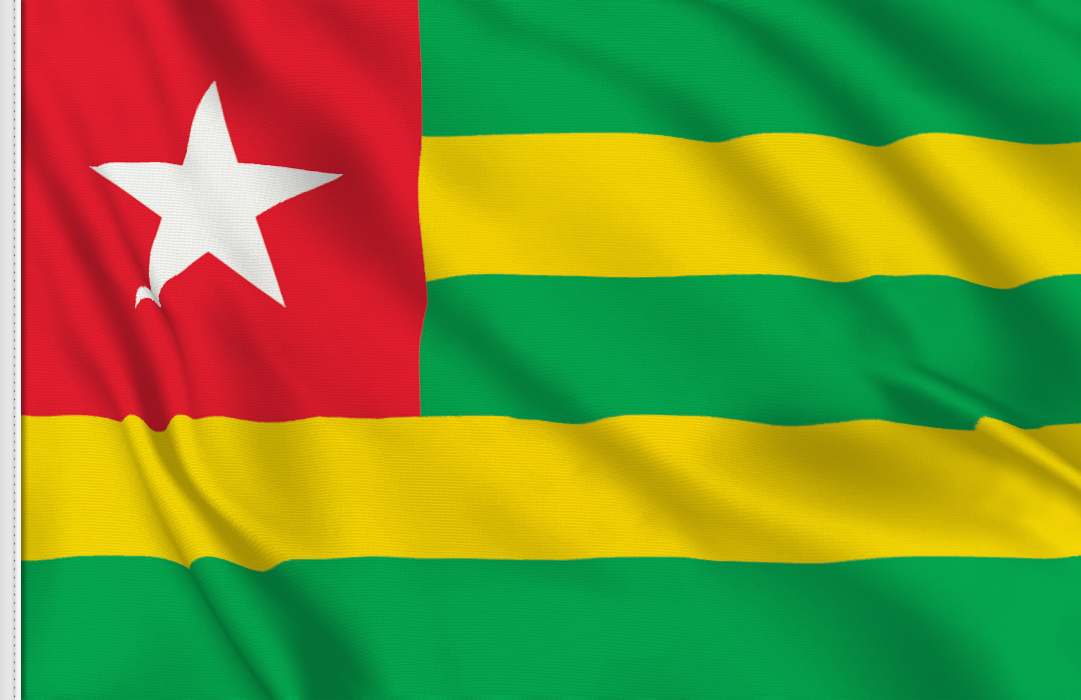 flag sticker of Togo