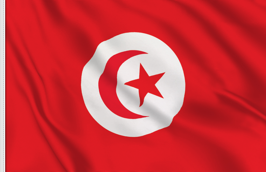 flag sticker of Tunisia