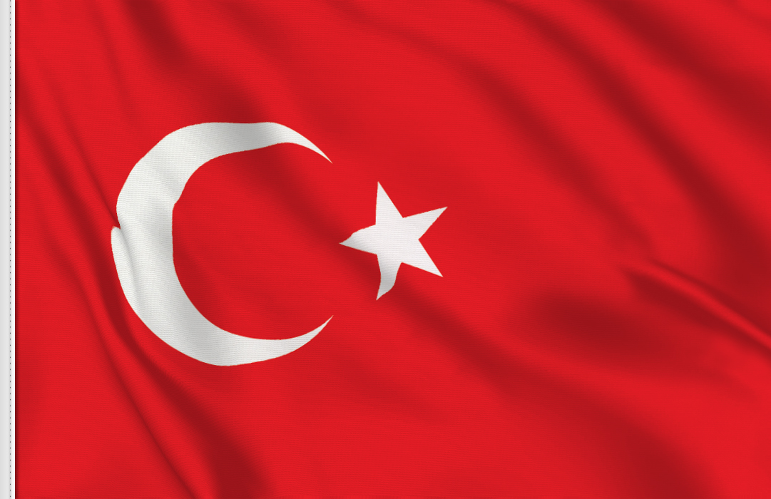 Flag sticker of Turkey
