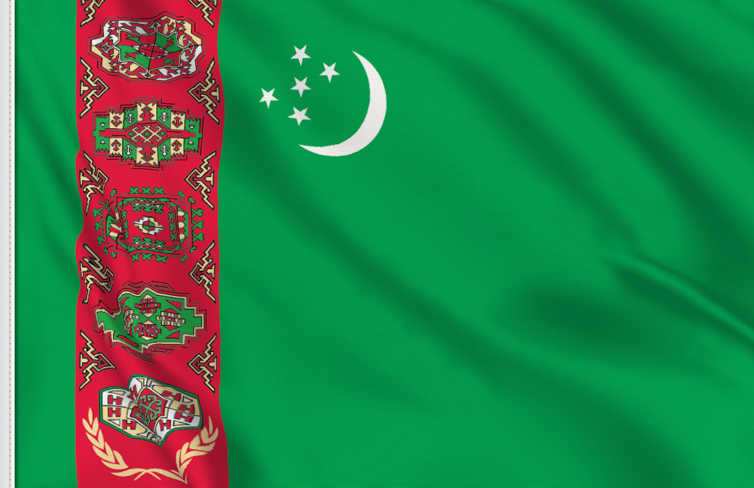 flag sticker of Turkmenistan