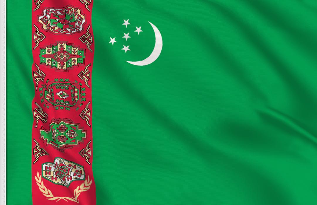 Turkmenistan aufkleber fahne