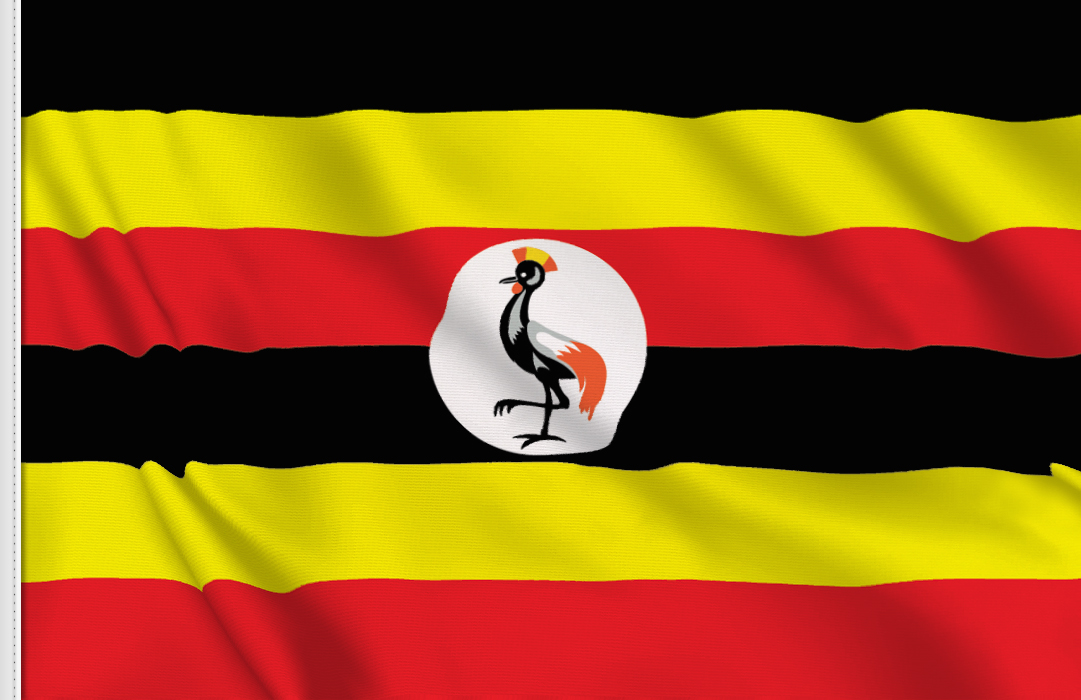 flag sticker of Uganda