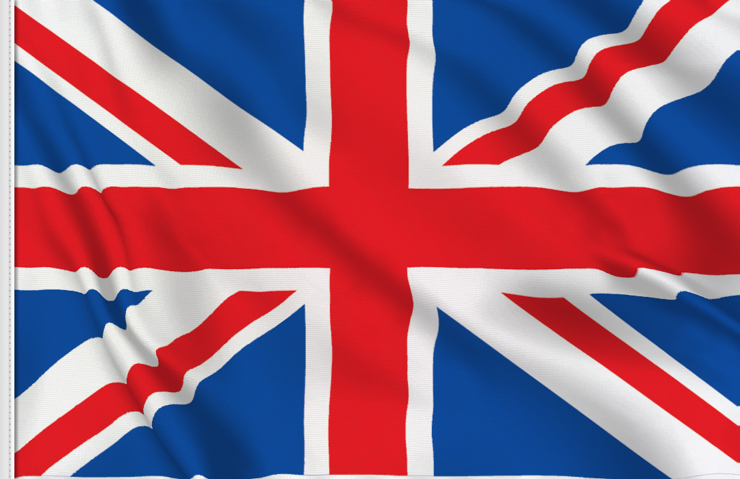 flag sticker of UK