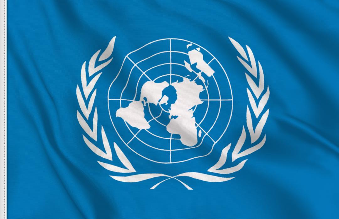 bandera pegatina de ONU