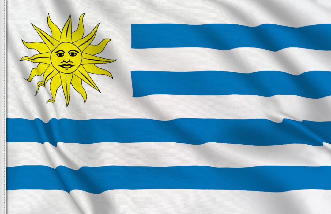 Uruguay aufkleber fahne