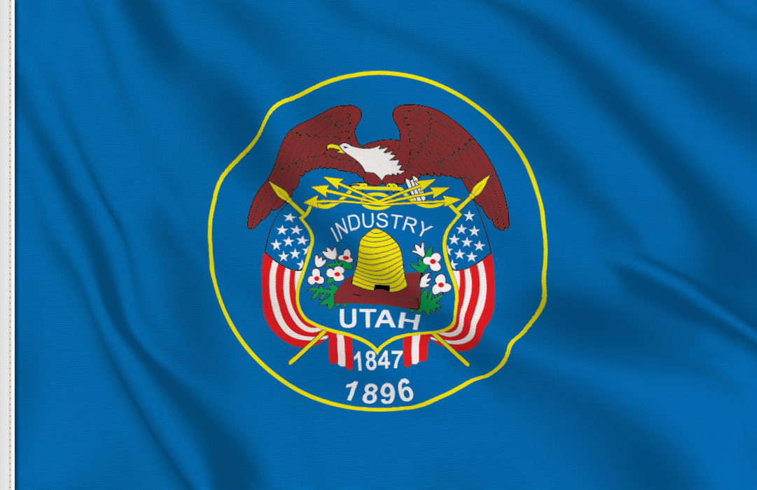 bandera adhesiva de Utah