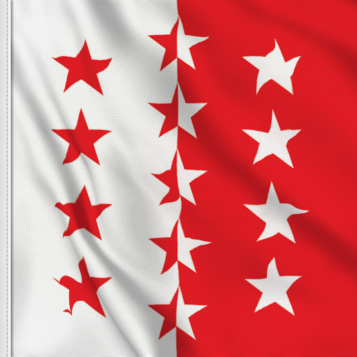 Flag sticker of Valais-Wallis