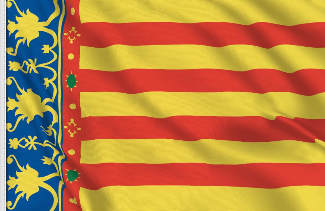 Flag sticker of Valencia