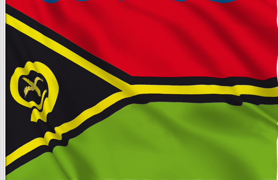 fahne Vanuatu, flagge von Vanuatu
