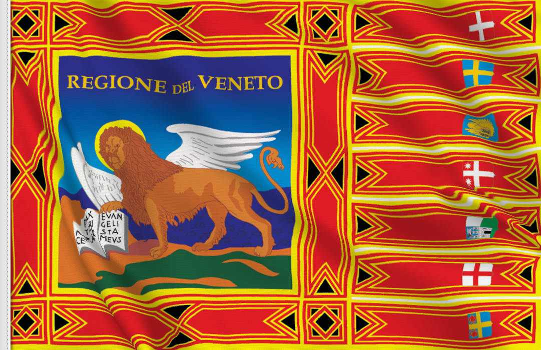 flag sticker of Veneto