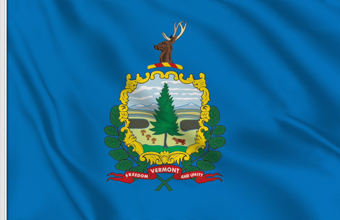 Flag sticker of Vermont