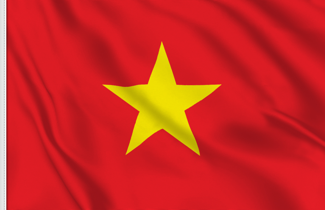 Vietnam aufkleber fahne