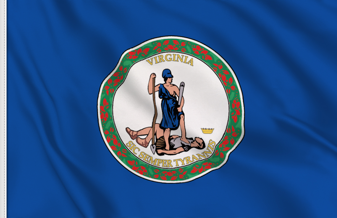Flag sticker of Virginia