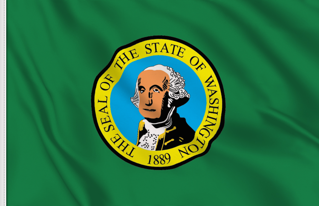 flag sticker of Washington