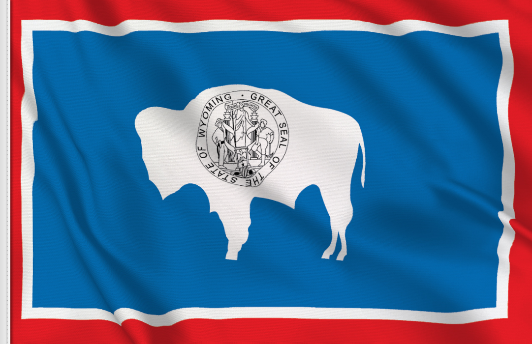 Flag sticker of Wyoming