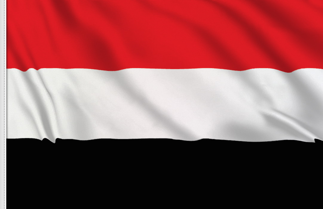 Flag sticker of Yemen