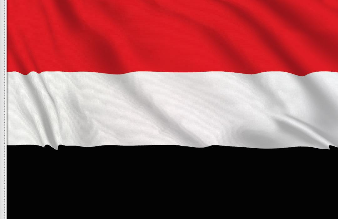 bandera adhesiva Yemen