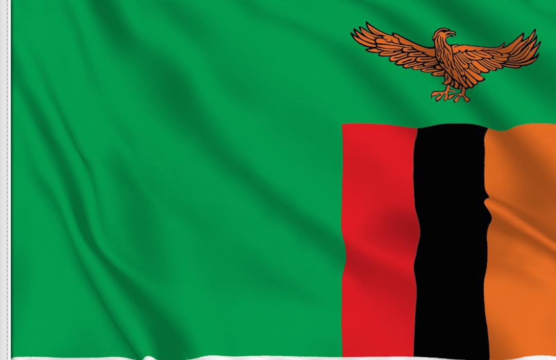 Bandiera Adesiva Zambia
